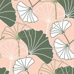 Ginkgo biloba zöld design egyedi szublimált textil méteráruhoz