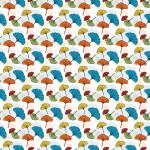 Ginkgo biloba színes design egyedi szublimált textil méteráruhoz