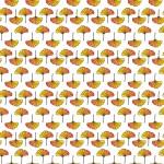 Ginkgo biloba narancs design egyedi szublimált textil méteráruhoz