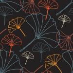 Ginkgo biloba körvonalas design egyedi szublimált textil méteráruhoz