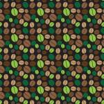 Nyers kávébabok design egyedi szublimált textil méteráruhoz