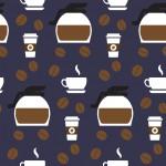 Kávés kancsó design egyedi szublimált textil méteráruhoz