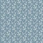 Fehér horgony design egyedi szublimált textil méteráruhoz