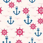 Pink kék tengerész design egyedi szublimált textil méteráruhoz