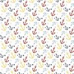 Színes horgonyok design egyedi szublimált textil méteráruhoz