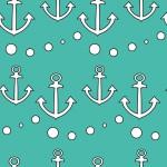 Horgonyok és pöttyök design egyedi szublimált textil méteráruhoz