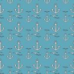 Horgonyok és madarak design egyedi szublimált textil méteráruhoz