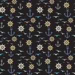 Kormánykerék horgony és madár design egyedi szublimált textil méteráruhoz