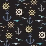 Kormánykerék horgony madarak design egyedi szublimált textil méteráruhoz