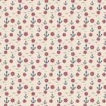 Kormánykerék madár és horgony2 design egyedi szublimált textil méteráruhoz