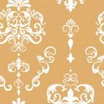 Rococo inda aranyon fehér design egyedi szublimált textil méteráruhoz