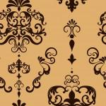Rococo inda aranyon sötétbarna design egyedi szublimált textil méteráruhoz