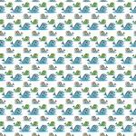 Kék és zöld halacskák design egyedi szublimált textil méteráruhoz