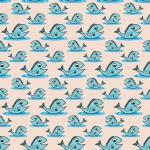 Kék halacskák design egyedi szublimált textil méteráruhoz
