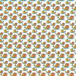 Narancs halacskák design egyedi szublimált textil méteráruhoz