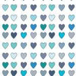 Kék szívecskék design egyedi szublimált textil méteráruhoz