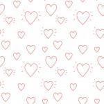 Fehér szívek design egyedi szublimált textil méteráruhoz