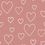 Rózsaszín szívek design egyedi szublimált textil méteráruhoz
