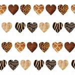 Állatmintás szívek design egyedi szublimált textil méteráruhoz