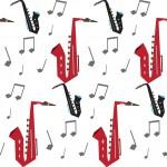 Szaxofon design egyedi szublimált textil méteráruhoz