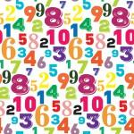Színes számok design egyedi szublimált textil méteráruhoz