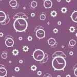 Fehér óra és fogaskerék design egyedi szublimált textil méteráruhoz