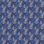 Kék pálmaágak design egyedi szublimált textil méteráruhoz