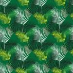 Zöld pálmaágak design egyedi szublimált textil méteráruhoz