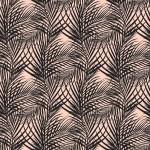 Fekete pálmaágak design egyedi szublimált textil méteráruhoz
