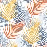 Narancs pálmaágak design egyedi szublimált textil méteráruhoz
