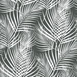 Fehér pálmaágak design egyedi szublimált textil méteráruhoz