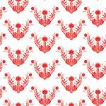 Jász népi motívum piros design egyedi szublimált textil méteráruhoz