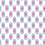 Retro pink design egyedi szublimált textil méteráruhoz