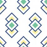 Retro zöld négyzet design egyedi szublimált textil méteráruhoz