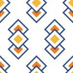 Retro narancs négyzet design egyedi szublimált textil méteráruhoz