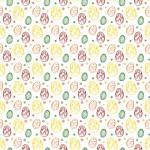 Színes húsvéti tojások design egyedi szublimált textil méteráruhoz