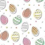 Húsvéti tojás fehér alapon design egyedi szublimált textil méteráruhoz