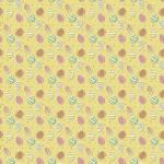 Húsvéti tojás sárga alapon design egyedi szublimált textil méteráruhoz