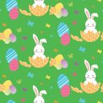 Húsvéti nyuszik design egyedi szublimált textil méteráruhoz