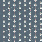 Télapó kék design egyedi szublimált textil méteráruhoz