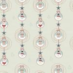 Télapó bézs design egyedi szublimált textil méteráruhoz