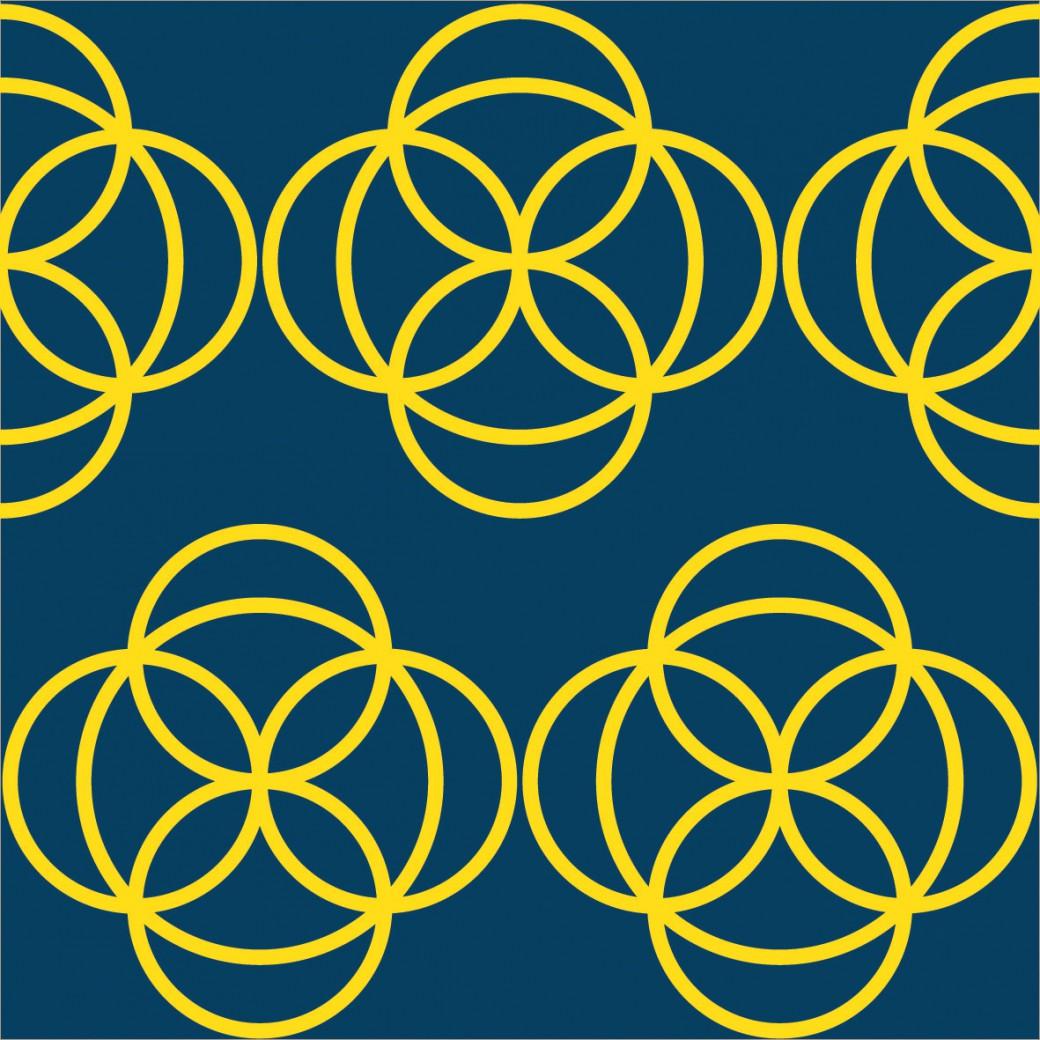 Sárga geometrikus design egyedi szublimált textil méteráruhoz
