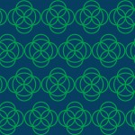 Zöld geometrikus design egyedi szublimált textil méteráruhoz
