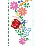 Hagyományos kalocsai design egyedi szublimált textil méteráruhoz