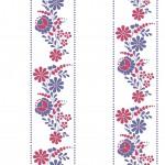 Lila kalocsai design egyedi szublimált textil méteráruhoz