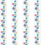 Színes kalocsai design egyedi szublimált textil méteráruhoz