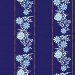 Kék kalocsai design egyedi szublimált textil méteráruhoz