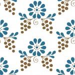 Magyaros kék barna design egyedi szublimált textil méteráruhoz