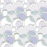 Kék mákos design egyedi szublimált textil méteráruhoz