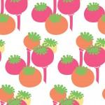 Pink mákos design egyedi szublimált textil méteráruhoz